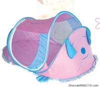 free shipping High quality cartoon baby mosquito net folding ger-type baby mosquito net band music