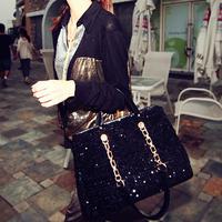 2013 paillette chain messenge bag shoulder bags women's handbag big bags,free shipping