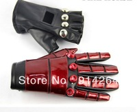KOF 99 KBlack Red Leather Gloves Cosplay Props