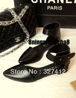 Europe and the United States the new Roman pointed flat sandals women flat with leather in summer