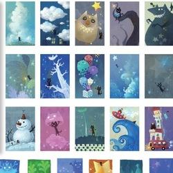 Mo Card genuine boxed postcards My name is Star Cat greeting/gift card 30 pcs/set Free Shipping(China (Mainland))
