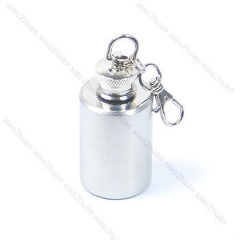 Free Shipping Mini Stainless Steel Alcohol Flask Liquor Bottle 1oz N
