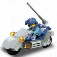Best sale Sluban 32pcs/set DIY Special Force Motorcycle Educational Toy Block Set M38-B0329 For Children, Free Shipping