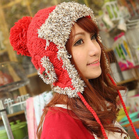 autumn and winter lobbing knitted hat 11 21-year-old knitting wool lei feng cap thermal millinery