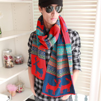 winter thermal thickening lovers design fawn male yarn scarf