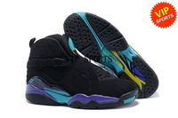 Wholesale Hot Sale Retro 8 VIII Classic Men's Sports Basketball Shoes (black / bright / aqua tone)