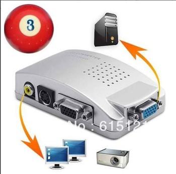 VGA SVGA to S-VIDEO 3 RCA TV AV CONVERTER CABLE ADAPTER