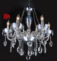 Free shipping 2013 stylish modern home decoration light sapphire crystal droplight KM6077 - L6 hall