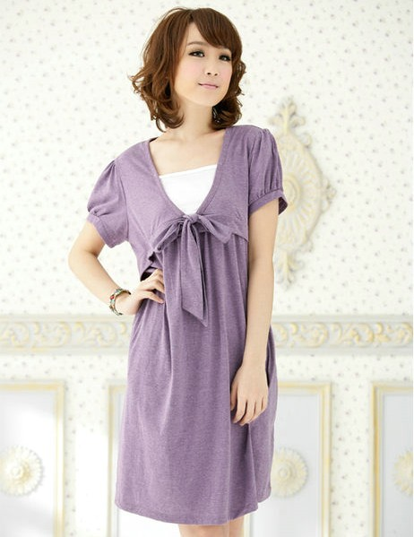 Maternity group fashion summer installed nursing maternity clothing loose maternity one-piece dress(China (Mainland))