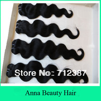 Mix Length 4Bundles Lot Competitive Price 100% Virgin Peruvian Body Wave Human Hair Weaving 12-32inch 400g/lot 100g/pc Color#1b