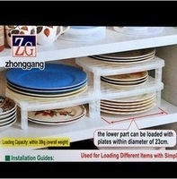 Multifunction Folding Home Kitchen storage rack Holders Healthy Plate Dish Organizer Shelf Storage Holder 10PCS Free Shipping