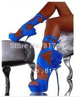 2014 new design women beautiful straps flower high heel sandals