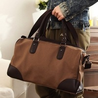 Free shipping 2013  new style canvas bag male messenger bag travel bag fashion school bag