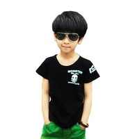 New Arrivals Boys Summer T-Shirt children short-sleeve T-shirt skull t-shirt 100% cotton 2 clors 5 pcs/lot free shipping