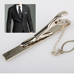 Free Shipping New Simple Necktie Tie Clasp Clip Gentleman Metal Silver Tone Girl Fashion(China (Mainland))