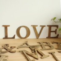 "Vintage wooden letters home decoration props 10 pcs/lot  letters the punctuation ""&"" in stock#13D011"
