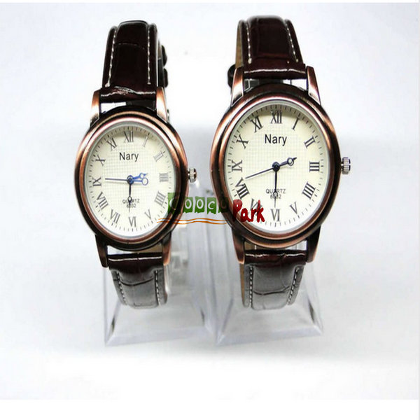 Lovers Watches QUARTZ style Roman Numerals Different Face couple watch one piece freeshipping(China (Mainland))
