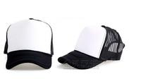 Brand New  Mesh Hand painted Cap hip-hop Cap Team Cap Trucker Hat Cap Women / Ladies Junior Black/White NO34672