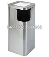 5starts hotel-high grade-stainless steel -Square corner ash bin-lobby ash can-hall waste bin