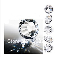 Free shipping 1440pc 2.7-2.8mm Top Quality SS10 CRYSTAL (WHITE ) nail art phone decoration Silver bottom Flatback Rhinestone DIY