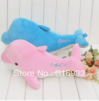 J1 Free shipping , pink or blue dolphins plush toy, dolphins plush pillow, 58cm, 1pc