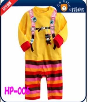 4pcs 2013 Children's outfit baby long-sleeved cotton Cartoon  romper pants girl's boy's one piece Soft Jumpsuit/bodysuit