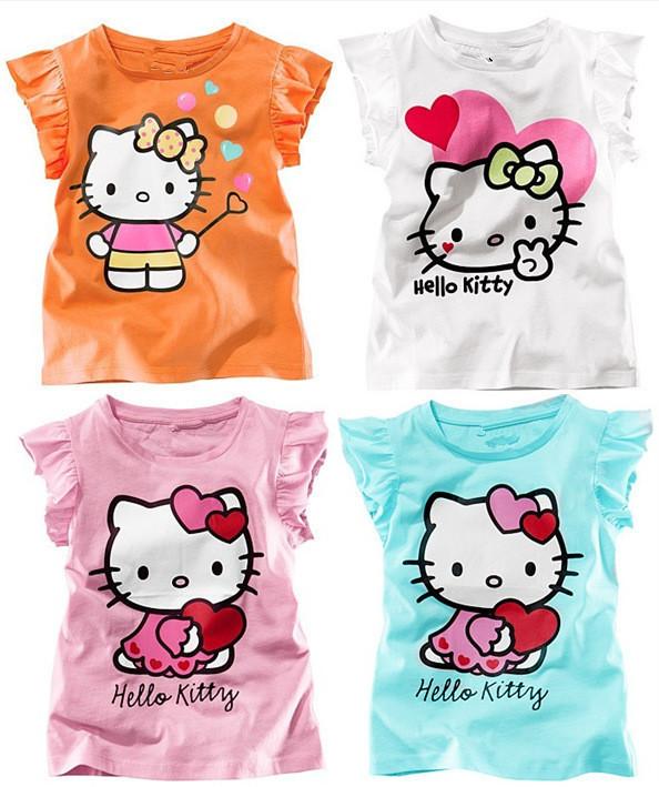 Hot sale baby boys girls cartoon shirts clothing children wear blouses