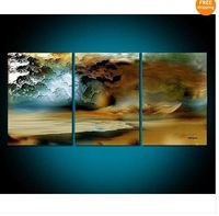 "Hot Sale! Huge""Thunderstorm""MODERN ABSTRACT HUGE WALL ART OIL PAINTING"