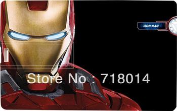 Iron Man Tony Stark Credit card shape USB Flash Drive  2GB 4GB 8GB 16GB 32GB gift stick Free DHL EMS UPS FeDex