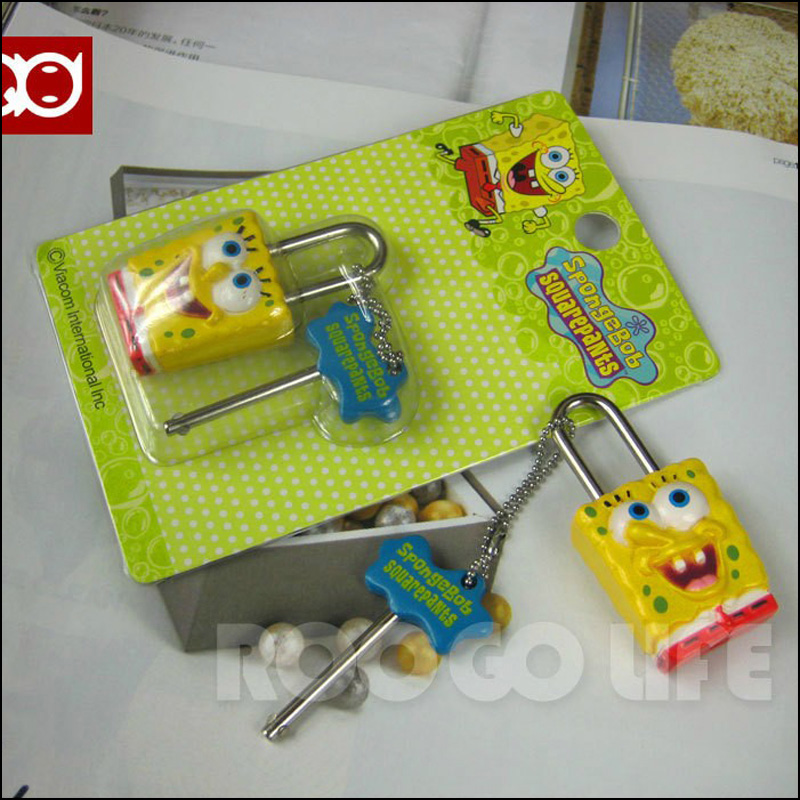Min.order is $15 Lock key chain diary lock cartoon doll head small padlock 12 tritium coach fashion lada angry the sport kawaii(China (Mainland))