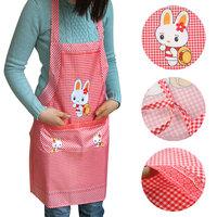 Free shipping Rabbit pattern apron fashion halter-neck type aprons oil bibs