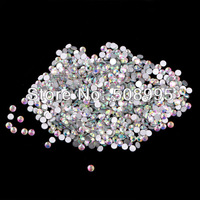 Free shipping  1440pcs Swaro SS5 1.7-1.8 Crystal WHITE AB Glue Fixed Flatback Rhinestone Nail Art Decoration for sale Wholesale