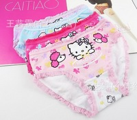 REE SHIPPING girls  princess  children's kids  baby's underwear hello kitty  6 pieces(different colour1)