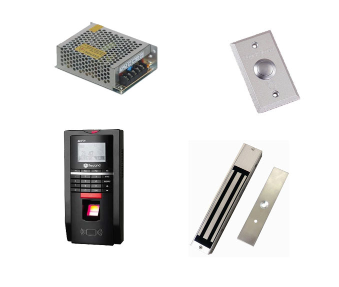 Free shipping by DHL ,Finger access control kit , finger access control +power+280kg magnetic lock+exit button,sn:F20_6(China (Mainland))