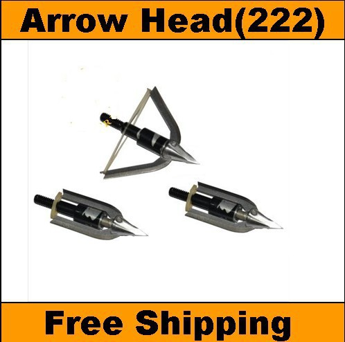 Free Shipping FY222 ( 3 pieces/lot) Stainless Steel arrow head for hunting ,arrowhead ,arrow broadheads(China (Mainland))