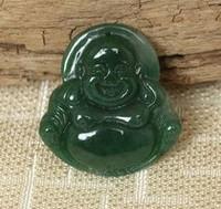 Selling 2013 glossy dark green jade Buddha pendant oil green Buddha Pendant