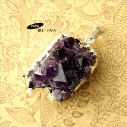 Papa 30.2 amethyst raw ore pendant natural and elegant pendant(China (Mainland))
