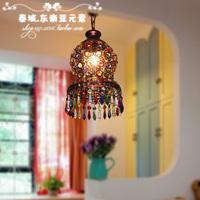 Southeast Asian style Bronze vintage small pendant light small crystal light aisle lights balcony lamp free shipping