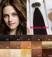 Bulk Stock: 18'' 20'' 22'' 24'' black brown blonde 100s/lot 1g/s Keratin U tip Nail Indian Remy 100% human Hair Extensions