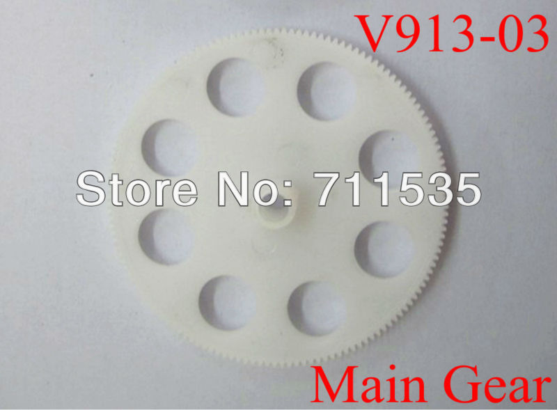 V913-03 Main Gear / Gear Wheel Set Spare Parts For WLTOYS Alloy V913 2.4G 4CH Gyro Remote Control Single Propeller RC Helicopter(China (Mainland))
