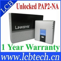 UNLOCKED LINKSYS PAP2 PAP2-NA VOIP Phone Voice Adapter 2 FXS ports SIP VoIP Phone Adapter PAP2T without retail box