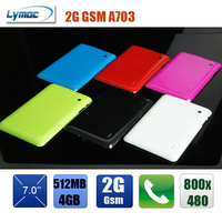 7 inch tablet bluetooth dual camera allwinner A13 2G GSM SIM card MID A703