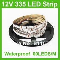 Wholesale + 50M/Lot DC12V Waterproof SMD LED Strip Light 335 Side-emitting 60LEDS/M