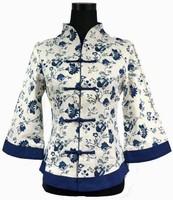 Spring Fashion Chinese tradition Women's top blouse shirt  Jacket  Linen Size S M  L XL  XXL XXXL   4XL 5XL