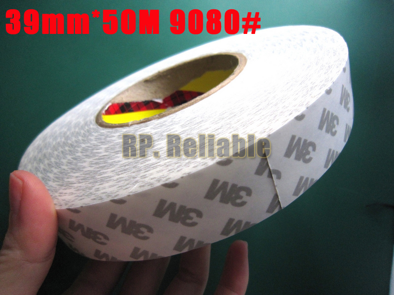 1x 39mm *50M 3M9080 Widely Using Double Sided Coated Adhesive Non-woven Tape for Electrical Industry Panel Screen Nameplate Bond(China (Mainland))