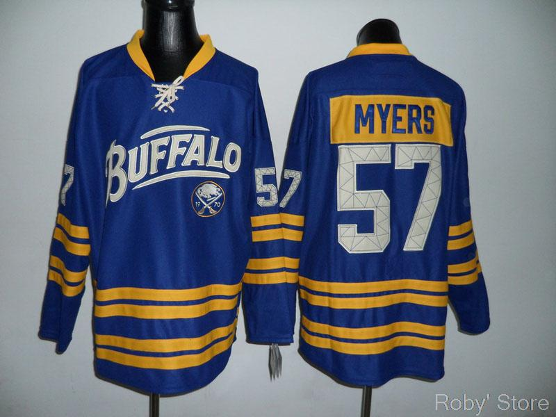 Sabres #57 Tyler Myers Blue Hockey jersey wholesale free & fast shipping Embroidery(China (Mainland))