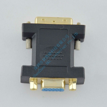 Free Shipping VGA Female To DVI 24+5 male Adapter connector  DVI 24+5 male to  VGA Female