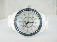 HAORUI gypsophila blue diamond Dive Quartz Watch White Fully Real Ceramic Fashion men watches