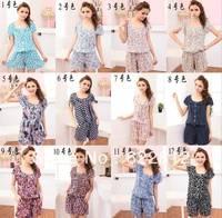 Free Shipping 2013 Fashion 13 Colors Women Cotton Romper Jumpsuit Print Casual Short Pants For Women