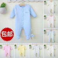 Newborn baby bodysuit spring baby bodysuit autumn and winter newborn clothes romper thick thermal underwear